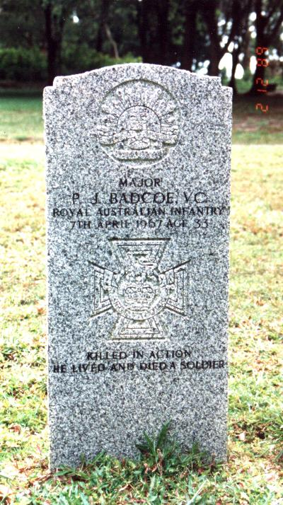 Grave of Major Peter Badcoe VC