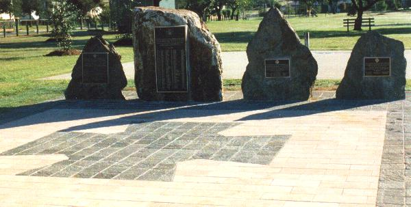 View of the four memorials